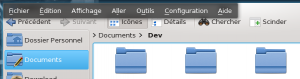 KDE-Menu-caché